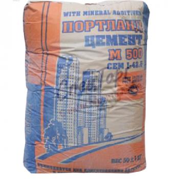 Цемент Липецкцемент М500 Д20 мешок 40 кг